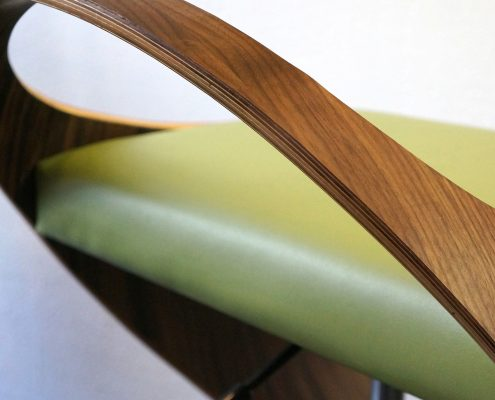 Designed for Winston Residence Materials: Bent Plywood Steel  & Upholstery